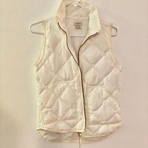 J.Crew White Quilted Vest